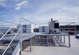 Układ grzewczo-wentylacyjny w biurze i hali produkcyjnej